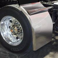 Fully Smooth Stainless Steel Low Rider Straight Drop Quarter Fenders