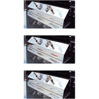 Universal Trailer Service Box With 3 Slim Dual Color Flatline Red/White LEDs