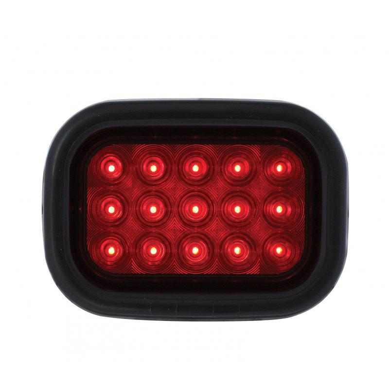15 Red LED Rectangular STT Light Kit Lit