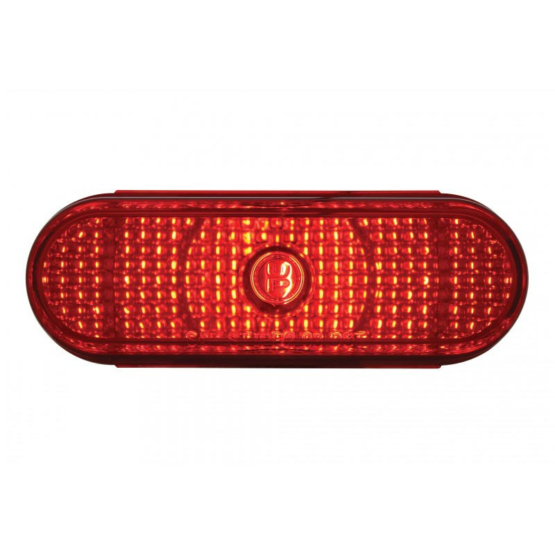 Incandescent Oval Crystal Red STT Light Lit