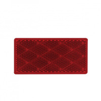 Rectangular Quick Mount Red Reflector Front
