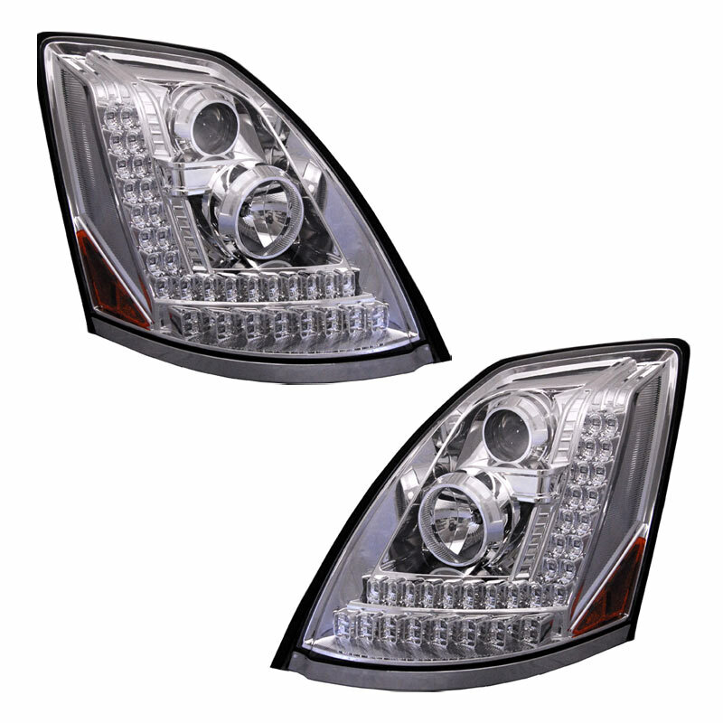 VOLVO VNL - BLACK LED Projector Headlight (DRIVER SIDE ...  |Headlamp 2000 Volvo Vnl