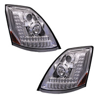 Volvo VNL Projector Headlights 2004 & Newer Driver And Passenger Amber LED Turn Signal Light