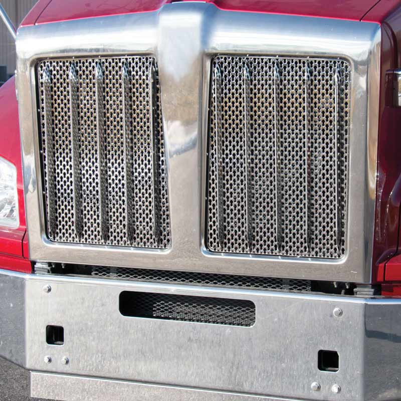 Kenworth T880 Punch Grill Stainless Steel Insert
