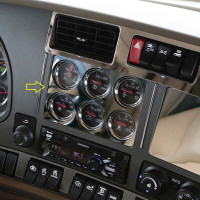 Kenworth T680 & T880 Six Gauge Cluster Above Radio Trim