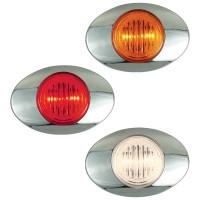 M3 Millenium 2 LED Marker Light Red Amber Clear Lens
