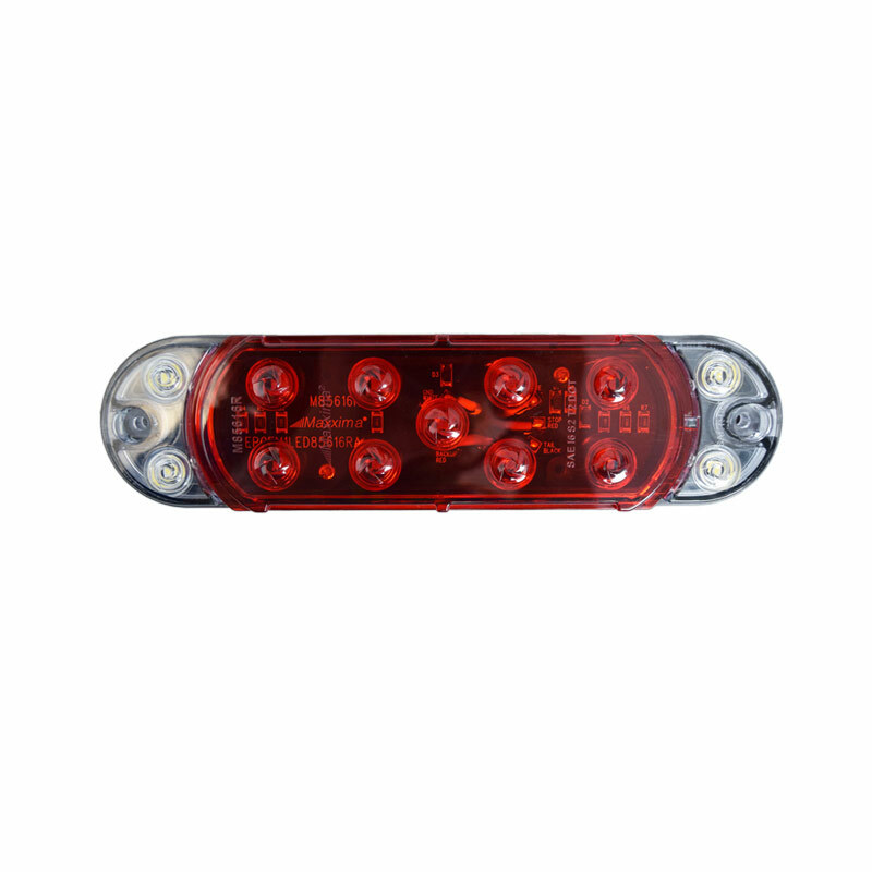 Hybrid Series LED Oval Red Stop Tail Rear Turn & Back-Up Light Front