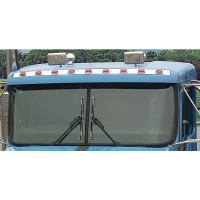 Kenworth Fiberglass Visor Insert with 9 Challenger LEDs & Plastic Bezels