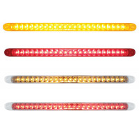 "17 1/4"" 23 SMD LED STT & PTC Light Bar With Reflector Amber Red Clear"