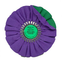 Zephyr Purple/Green Smooth Cut Airway Buffing Wheel
