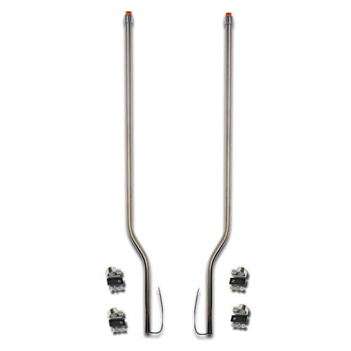 Peterbilt 375 377 385 Stainless Steel LED Bumper Guide