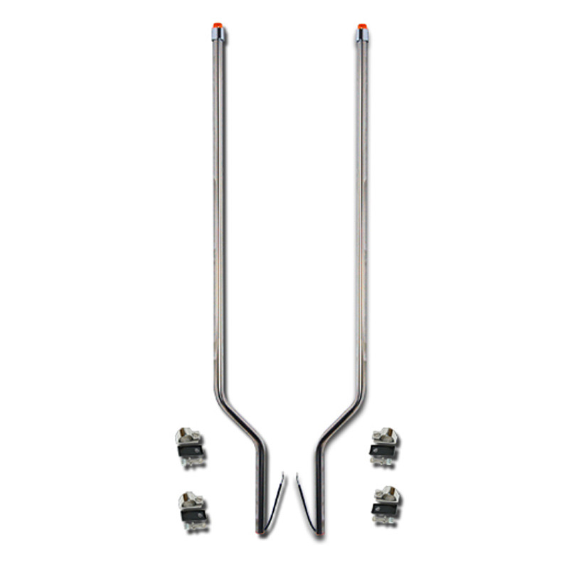 Mack CX Pinnacle Vision Stainless Steel LED Bumper Guide