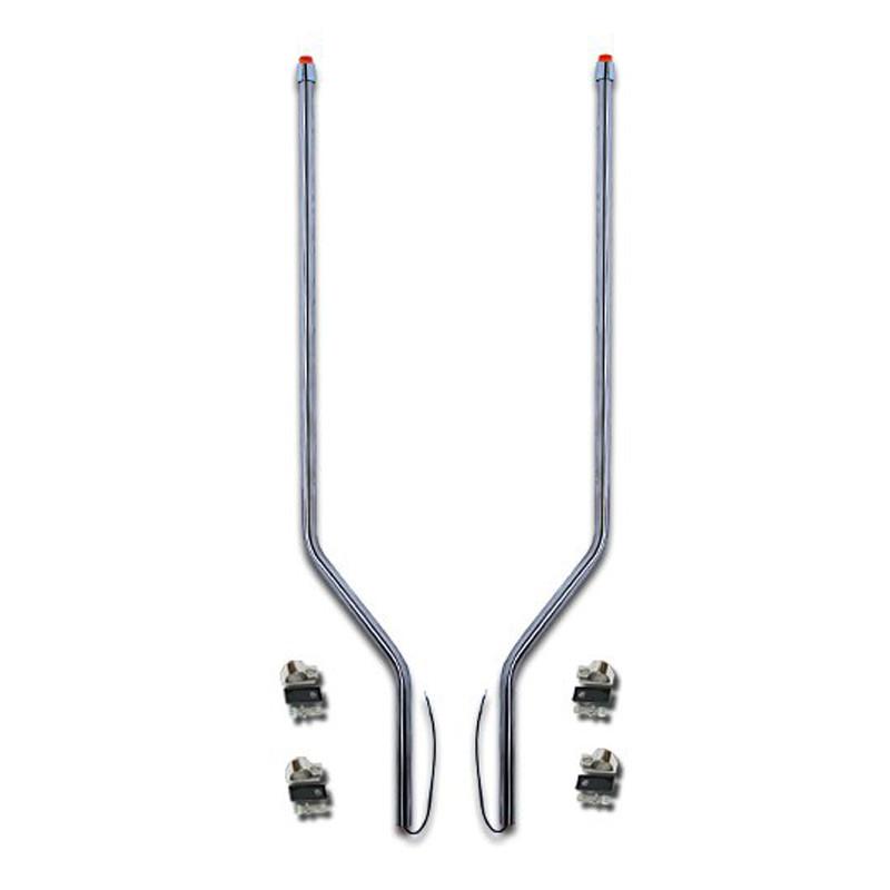Peterbilt 567 SBA Stainless Steel LED Bumper Guide