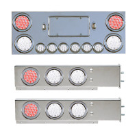 Rear Center Panel & Mud Flap Hanger With Dual Revolution LED Lights