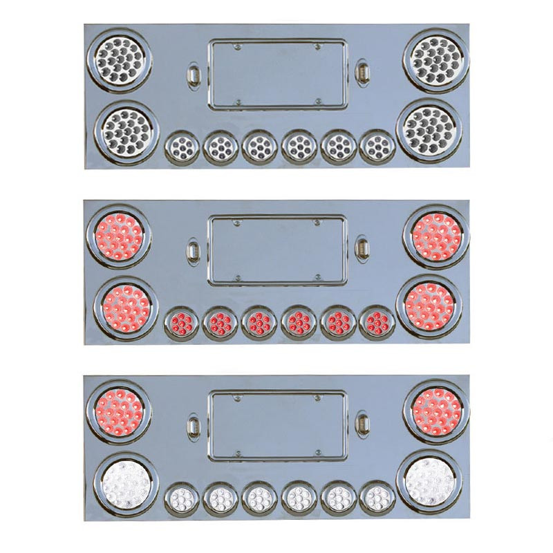 Rear Center Panel With 8 Dual Revolution & 2 Red STT LED Lights