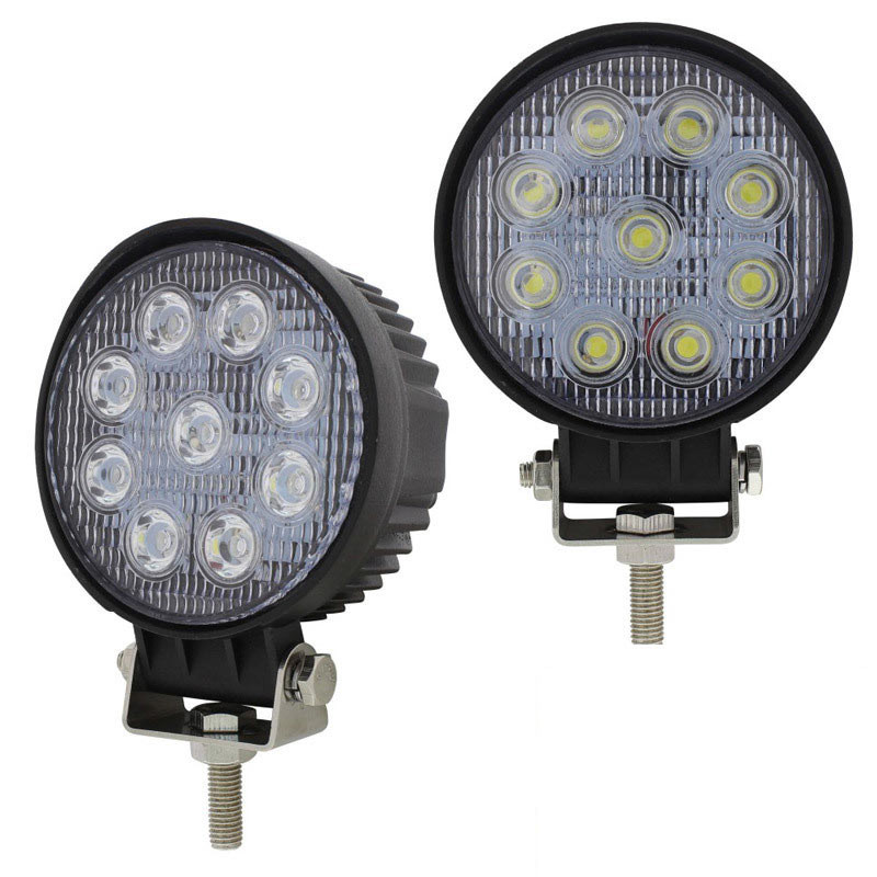 "4 1/2"" High Power 9 LED Round Work Flood Light Competition Series"