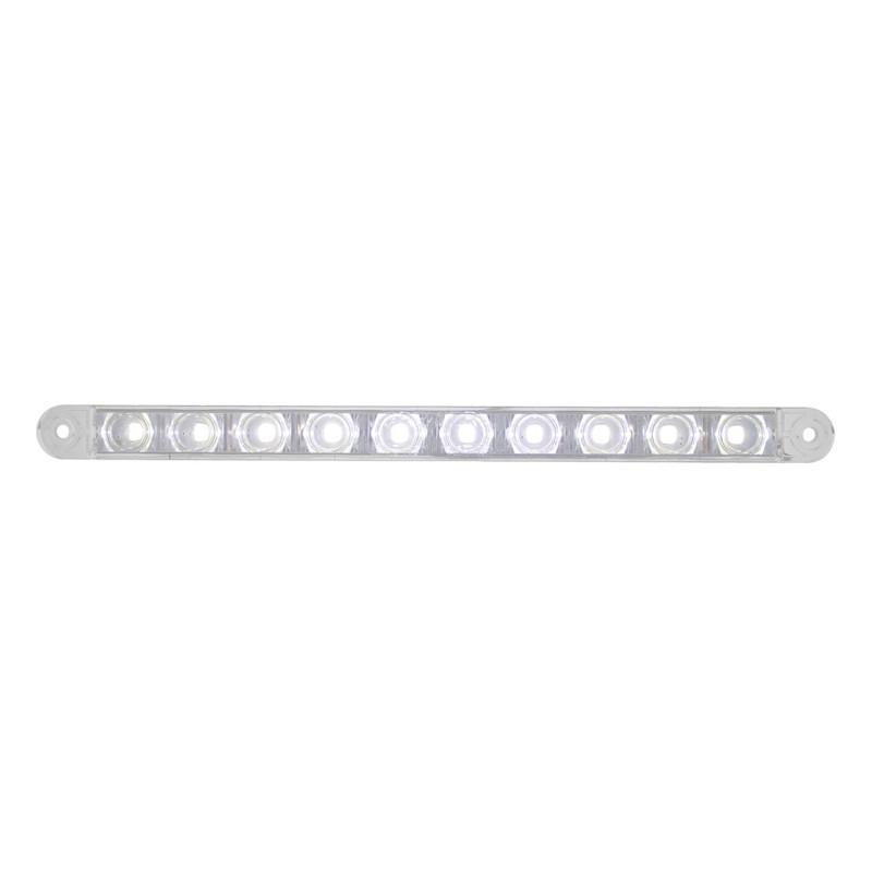 """10 LED 9"""" Auxiliary Light Bar White"""