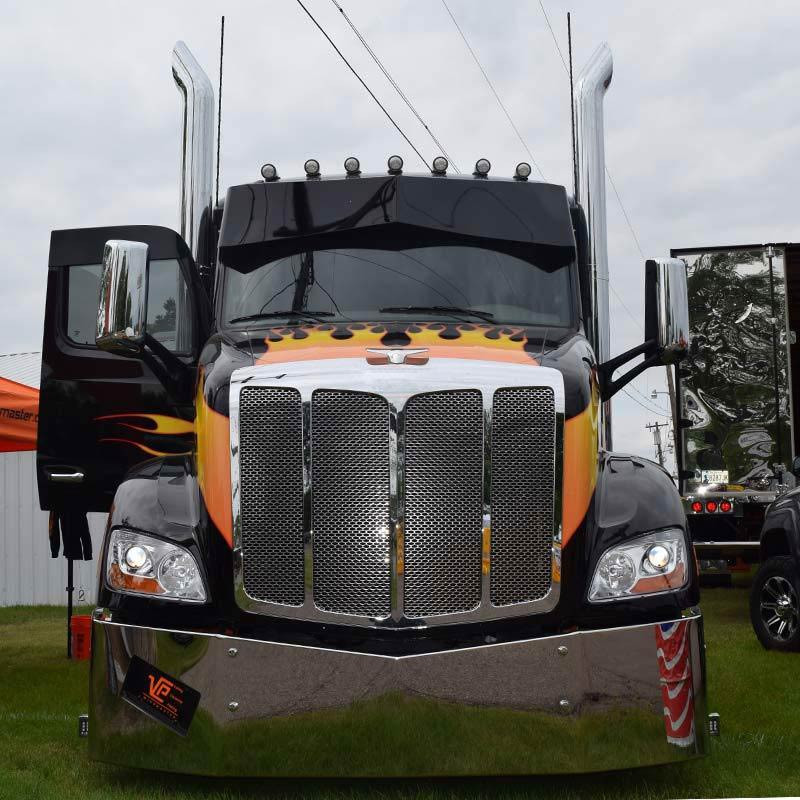 Valley Chrome Bumpers : Peterbilt set back axle bumper by valley chrome