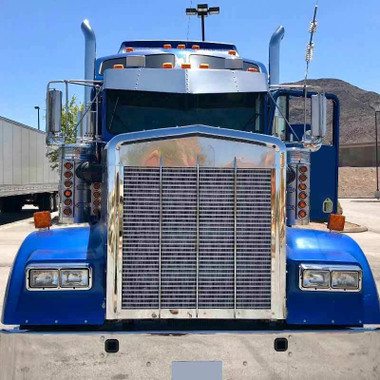 Kenworth 15 Quot Stainless W900 T800 Flat Glass Drop Visor
