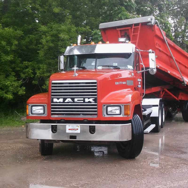 "Mack CV CX GU Stainless Steel 13"" Drop Visor"