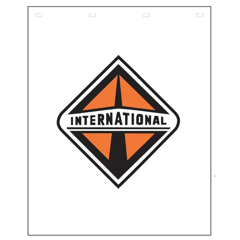 "Polyguard White Mud Flap International Logo 24"" x 30"""