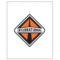 "Polyguard White Mud Flap International Logo 24"" x 30"""