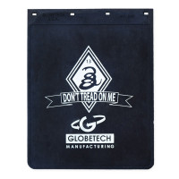 "Don't Tread On Me GlobeTech Logo Rubber Mud Flap 24"" x 30"""