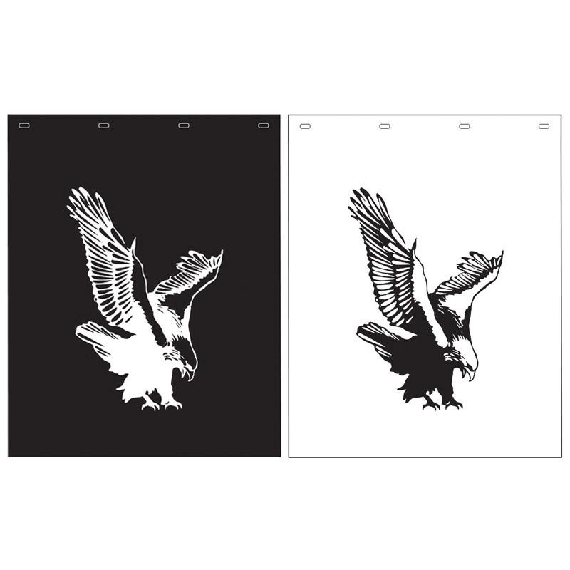 "Polyguard Mud Flap Eagle 24"" x 30"" Black White"