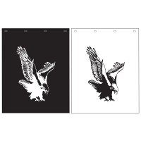 "Polyguard Mud Flap Eagle 24"" x 30"" Black White"