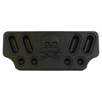 Minimizer Rear Center Light Panel With Skull & Bones Black PE