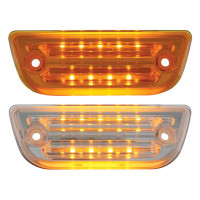 Peterbilt 579 & Kenworth T680 T770 T880 LED Rectangular Cab Light Amber Lens Clear Lens