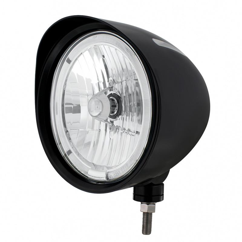 Black Billet Style Groove Headlight