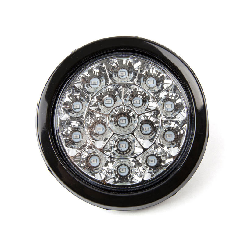 4 Round 16 LED White Reverse Light With Rubber Grommet