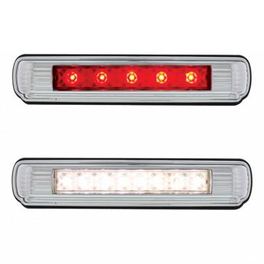 License Frame w Red LED Third Brake Light /& White License Plate Light ART DECO