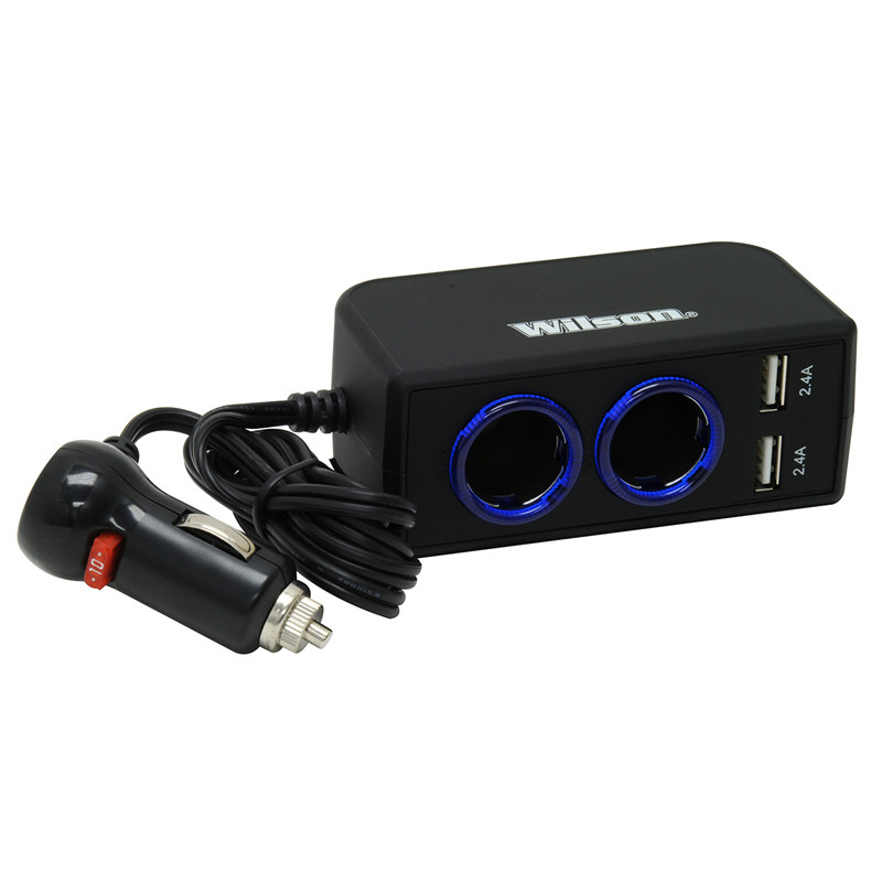 12-Volt Dual 2.4A USB Adapter With 3' Cord