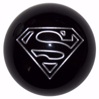 Superman Logo Shift Knob Black