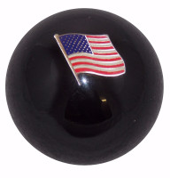 American Flag Shift Knob Black
