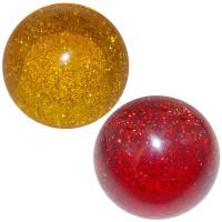Glitter Air Brake Knob Amber Red