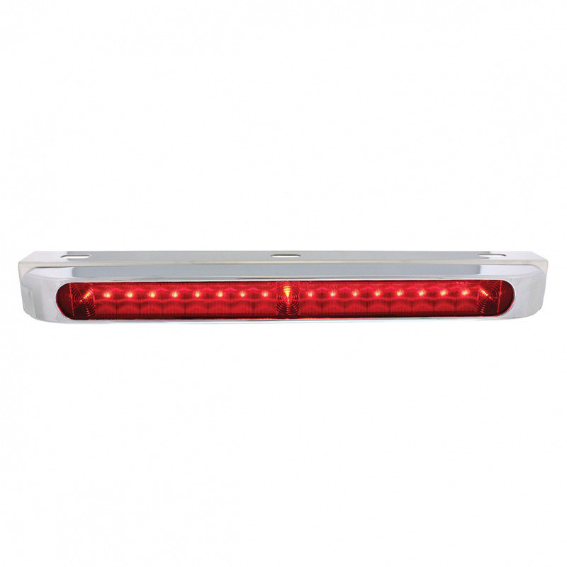 STT LED Light Bar With Stainless Steel Bracket - With Chrome Bezel