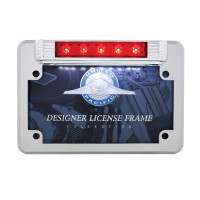 Motorcycle LED License Plate Frame - 3rd Brake Light