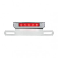 Motorcycle LED License Plate Bracket - Red 3rd Brake LED