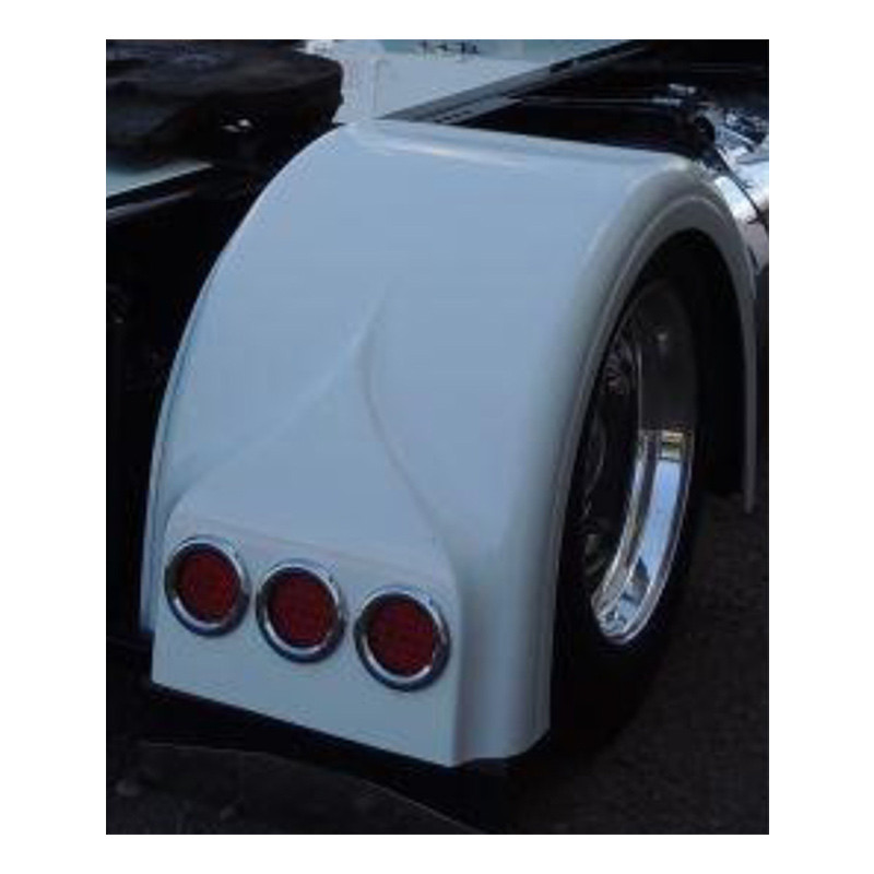 SINGLE AXLE REAR FENDER WITH LIGHT BOX