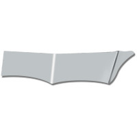 "Peterbilt 370 380 Series 13"" Wicked Gangster Drop Visor"