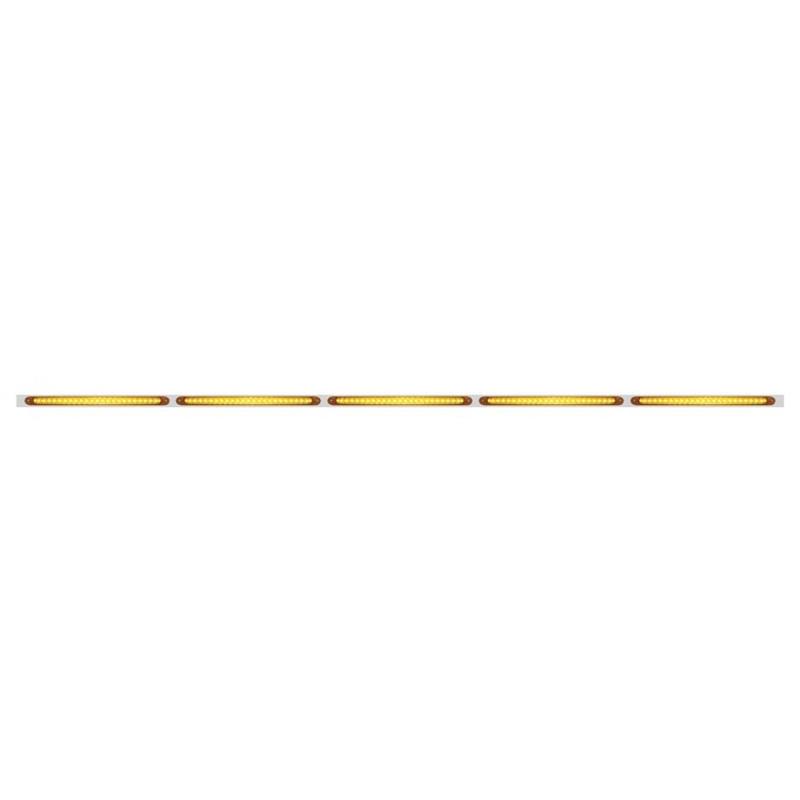 """94"""" LED Light Bar With Stainless Steel Bracket Amber Lens Amber LED"""