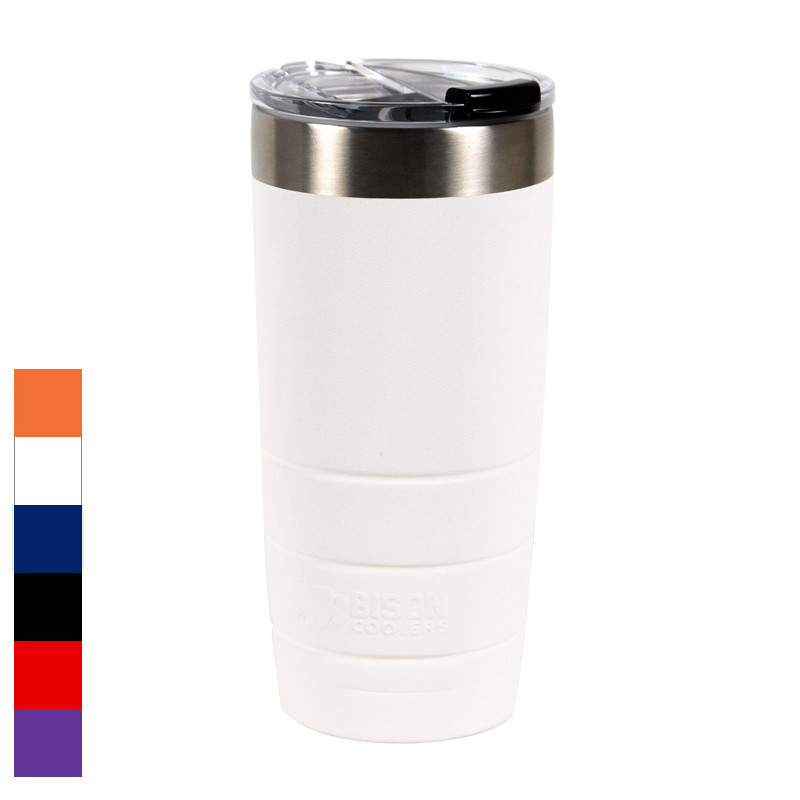 Bison 22oz Leakproof Stainless Steel Tumbler - White Main