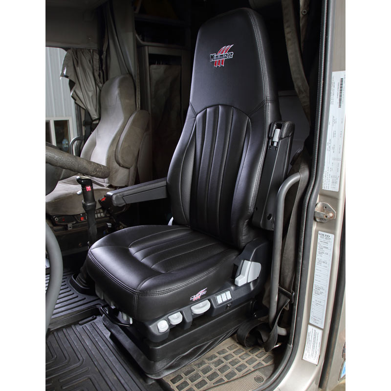 Minimizer Ultra Leather Air Ride Truck Seat Long Haul Series