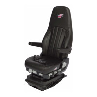 Minimizer Air Ride Truck Seat Long Haul Series Ultra Leather