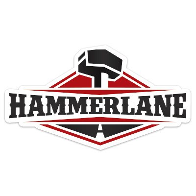"Hammerlane 4"" Sticker"