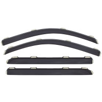 Nissan Titan Crew Cab AVS Smoke In-Channel Ventvisor 4 Piece