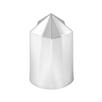 33mm Chrome Pointed Star Lug Nut Cover - Side View